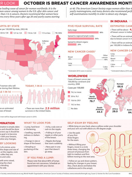 A Closer Look: Breast Cancer Awareness Infographic