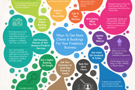 A Freelancer's Guide to Getting More Clients Infographic