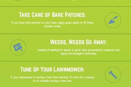 A Guide for Spring Lawn Care Infographic