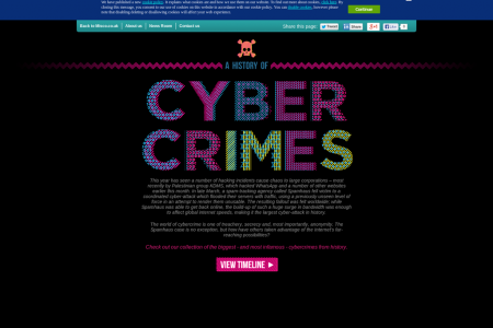 A History of Cyber Crimes Infographic