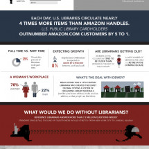 A Librarians Worth Around the World Infographic