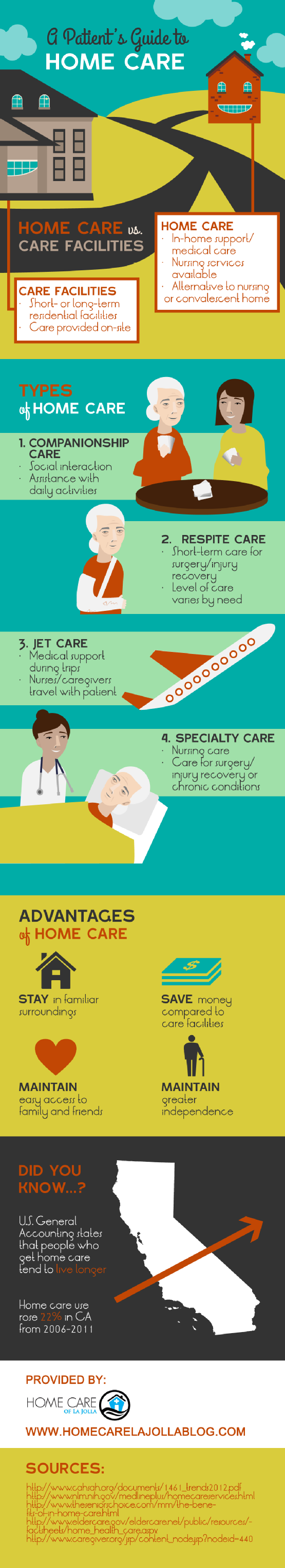 A Patient's Guide to Home Care Infographic