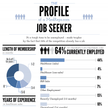 A Profile of Medical Sales Job Seekers Infographic