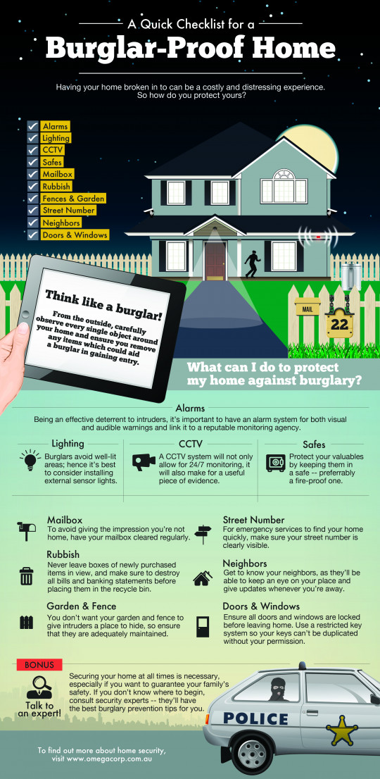 A Quick Checklist For A Burglar Proof Home