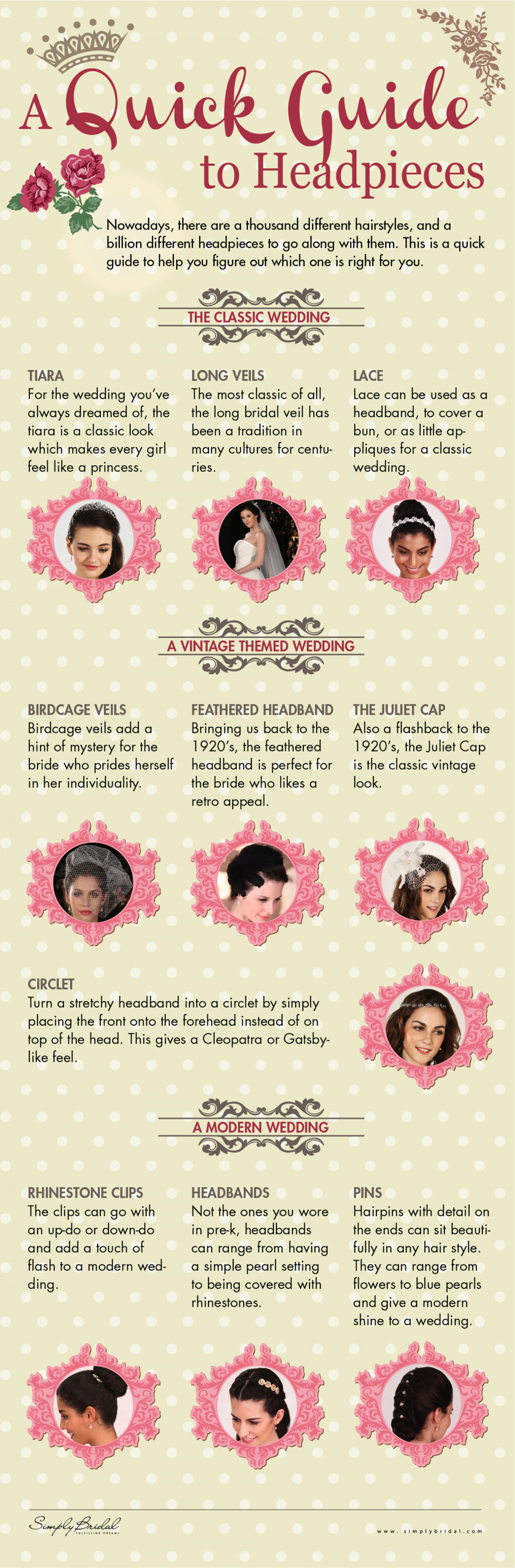 A Quick Guide to Headpieces Infographic