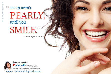 A Quotographic by Crest Whitening Strips Infographic