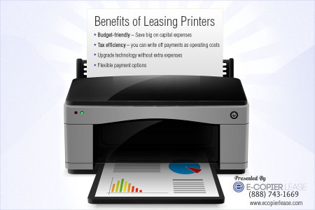 A Quotographic on the Benefits of Leasing Printers Infographic