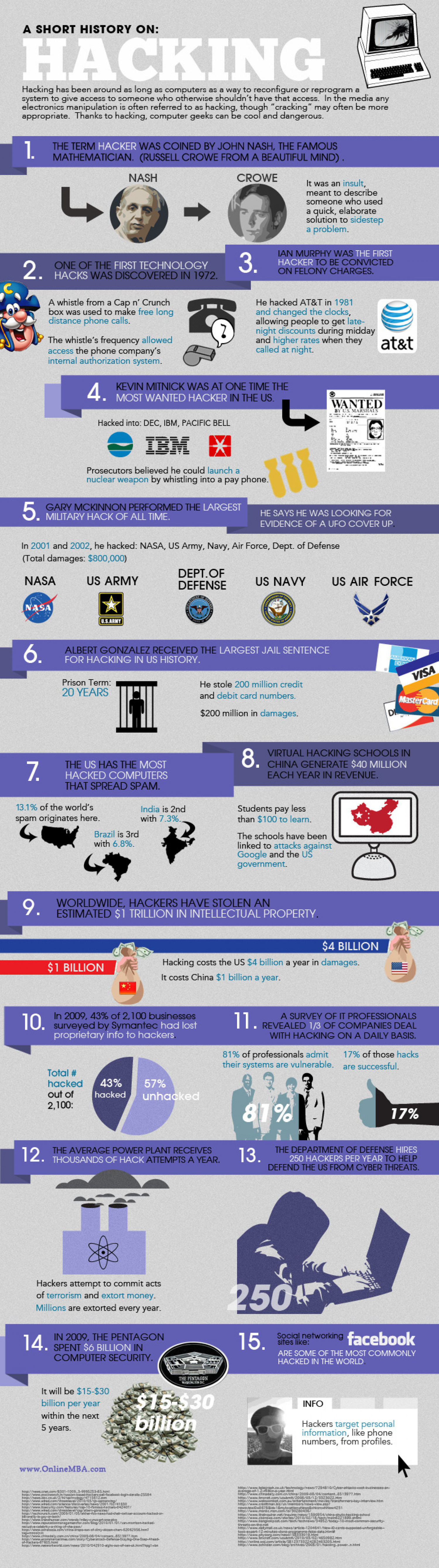 A Short History on: Hacking Infographic