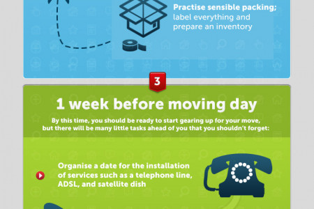 A step-by-step countdown to moving house Infographic