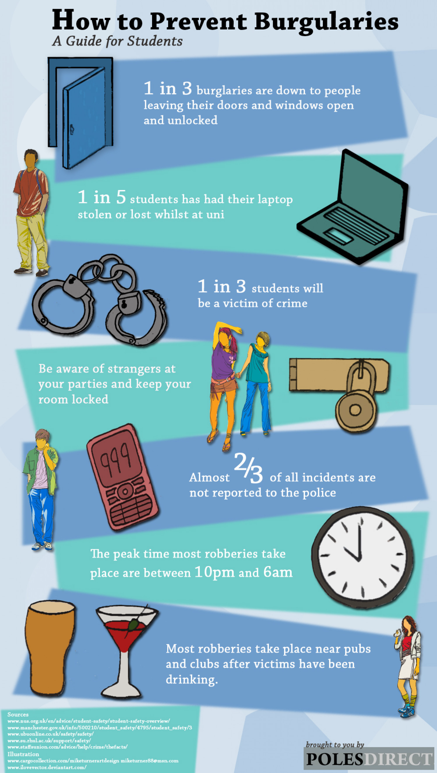 A student's guide to staying safe Infographic