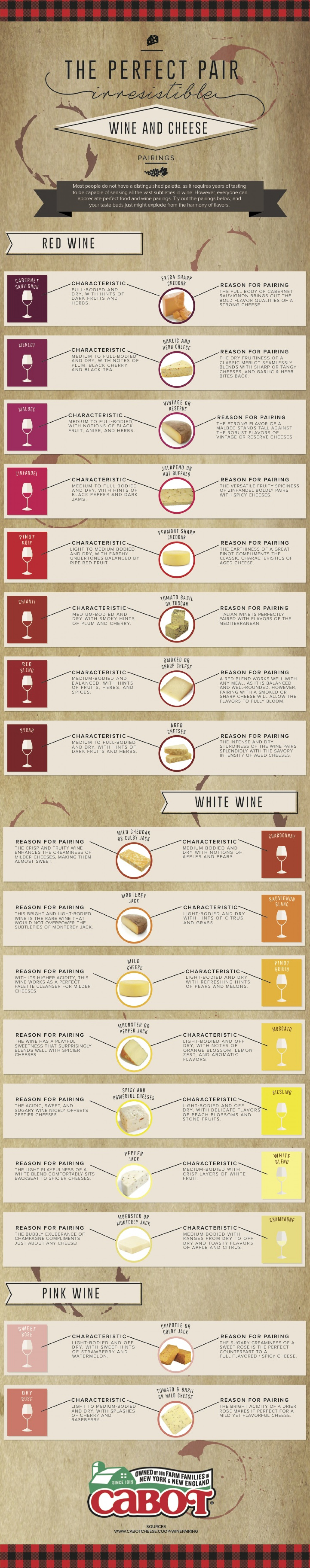 A Visual Cheese And Wine Pairing Guide  Infographic