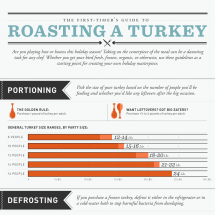A Visual Guide to Roasting Your First Turkey Infographic