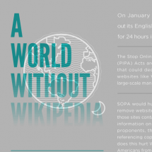 A World Without Wikipedia Infographic