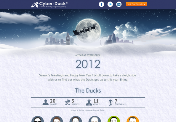 A year Cyber-Duck 2012 Infographic