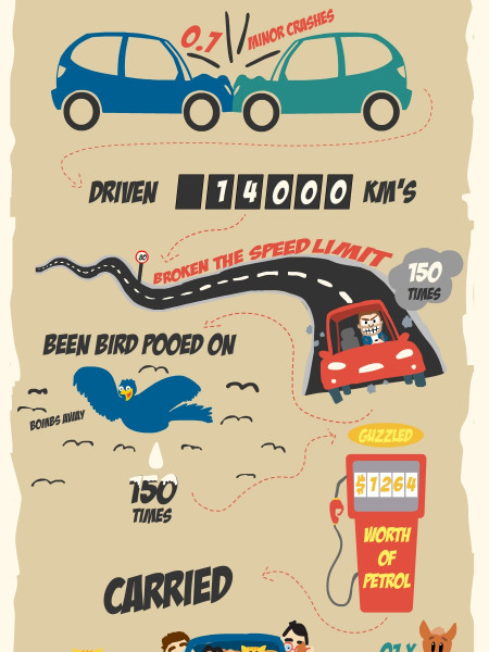 A Year in The Life of a Car Infographic