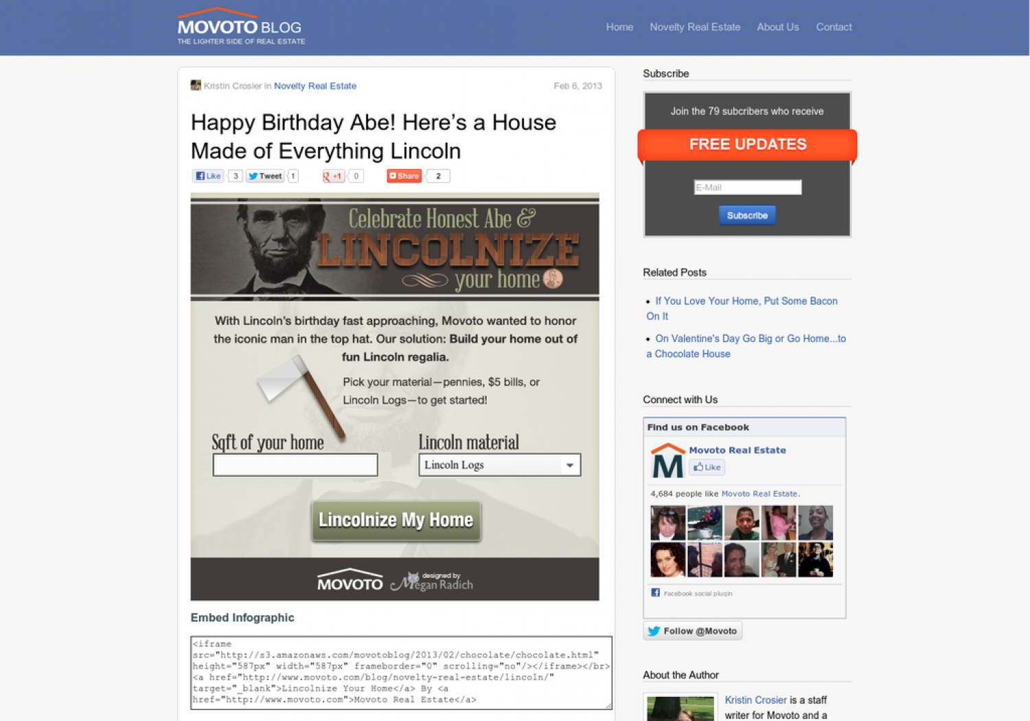 Abe Lincoln Birthday Tribute Infographic