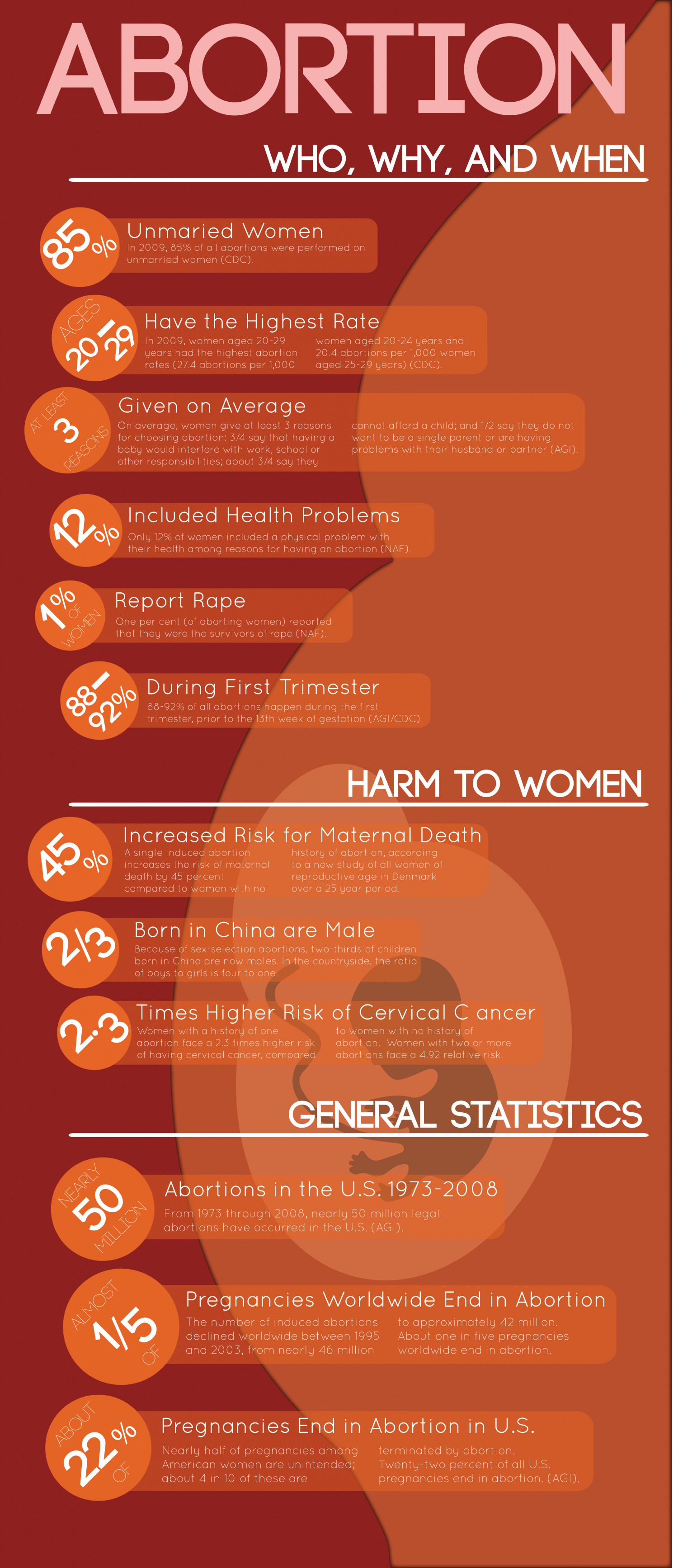 Abortion facts Infographic