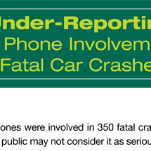 Accidents Caused by Cell Phones Infographic