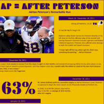 Adrian Peterson's 2012 Season Infographic