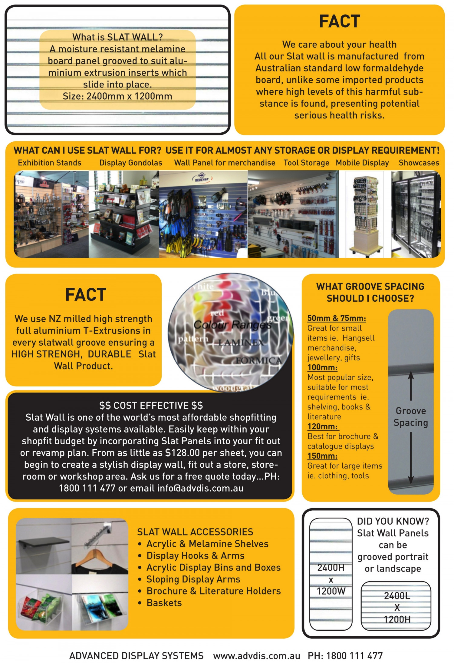 ADS-Slat Wall  Infographic