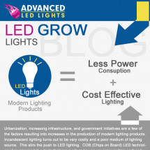 Advanced LED Grow Lights Infographic