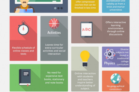 Advantages of an Online Education Institute Infographic
