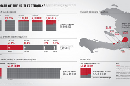 Aftermath of the Haiti Earthquake  Infographic