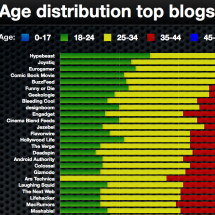 Age distribution top blogs worldvide Infographic