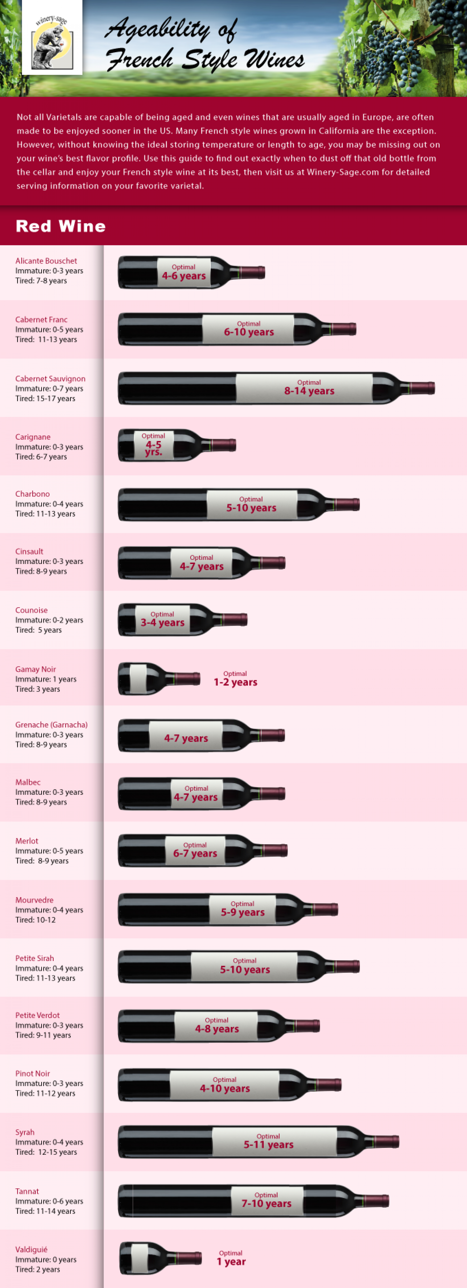 Ageability of French Red Wines Infographic