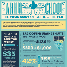 Ah-choo! The True Cost of Getting the Flu Infographic