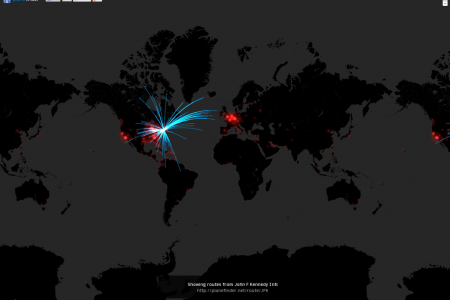 Airline Route Visualisation Infographic