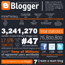 All About Blogger Infographic