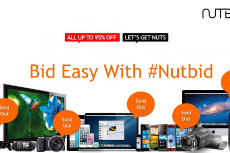 All about Nutbid a live auction website Infographic