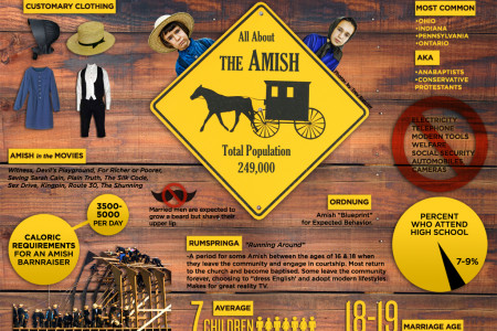All About the Amish Infographic