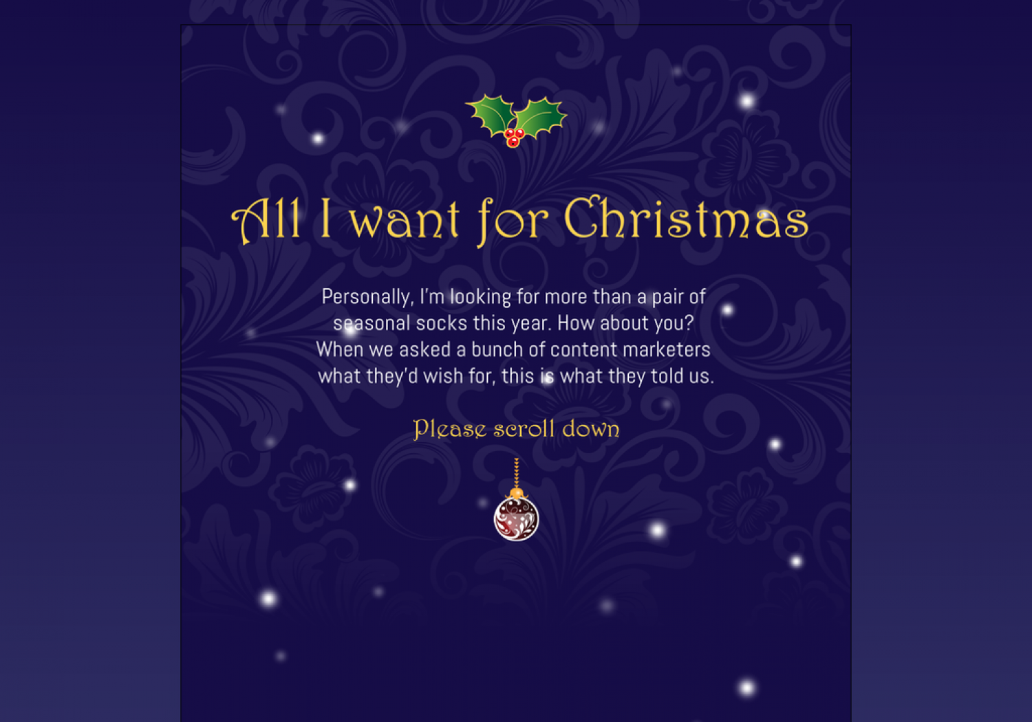 All I want for Christmas Infographic