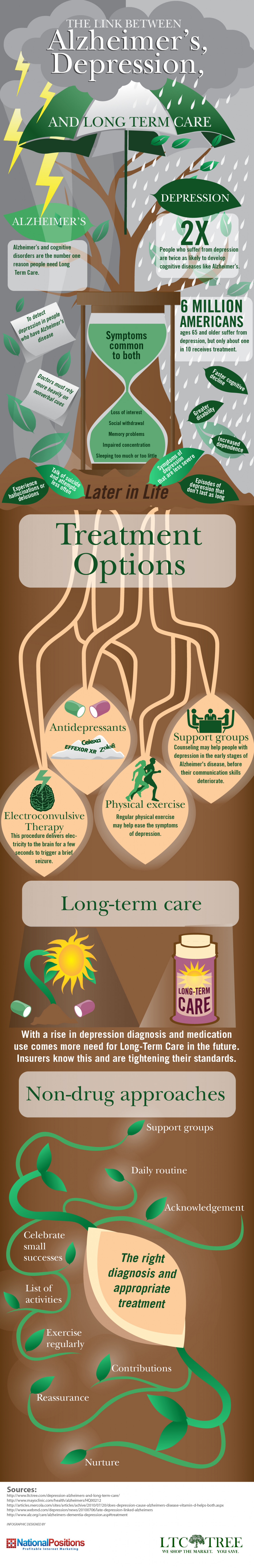 Alzheimer's & Long Term Care Infographic