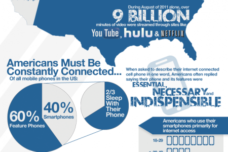 America & The Internet Infographic