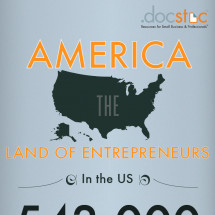 America: The Land of Entrepreneurs Infographic