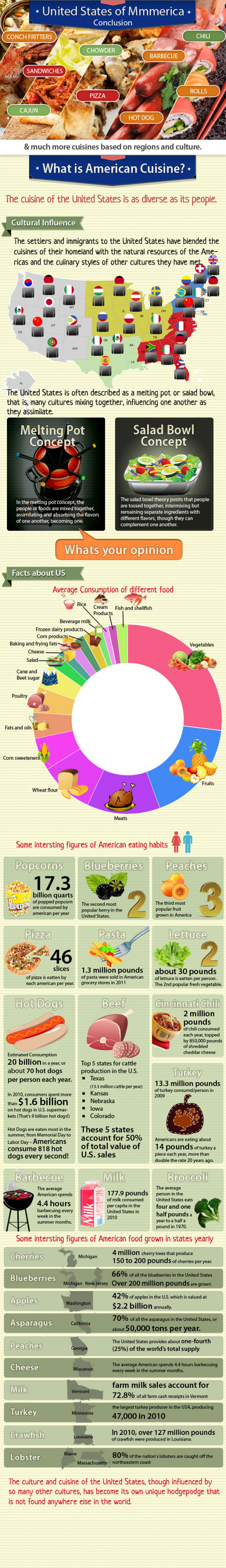 American Food Infographic