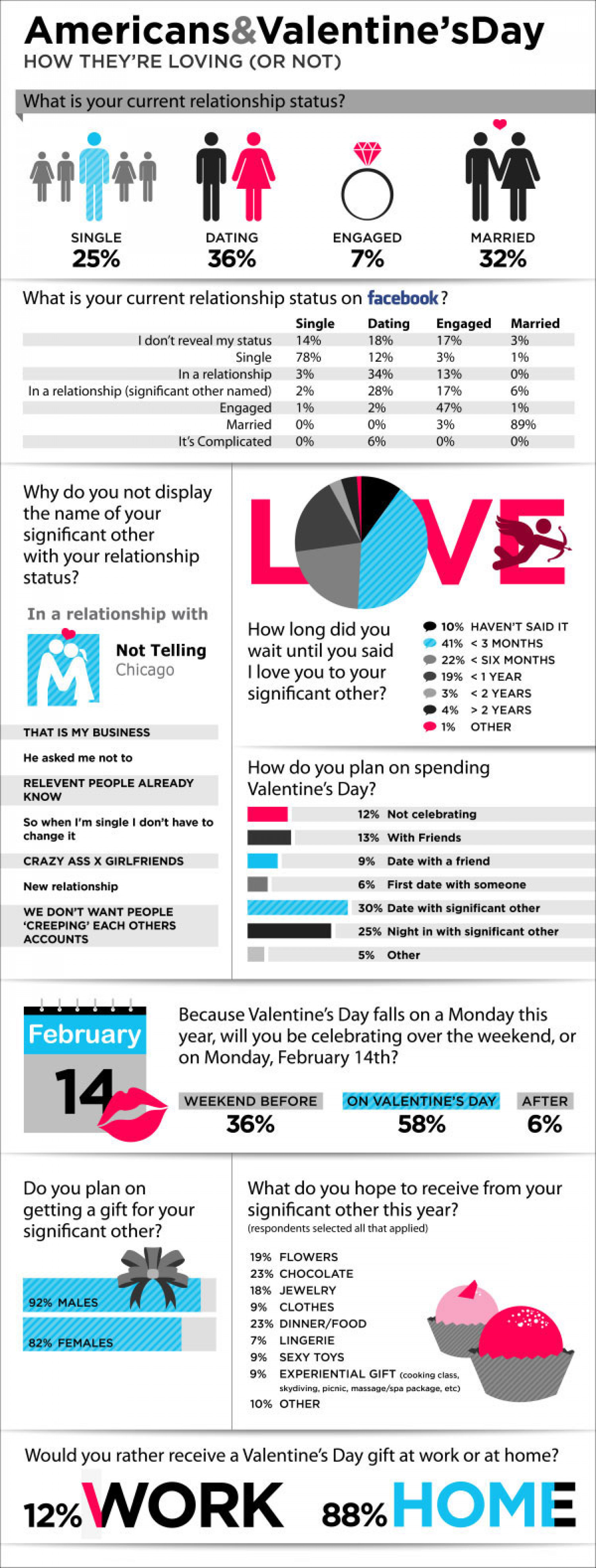 Americans and Valentine's Day Infographic