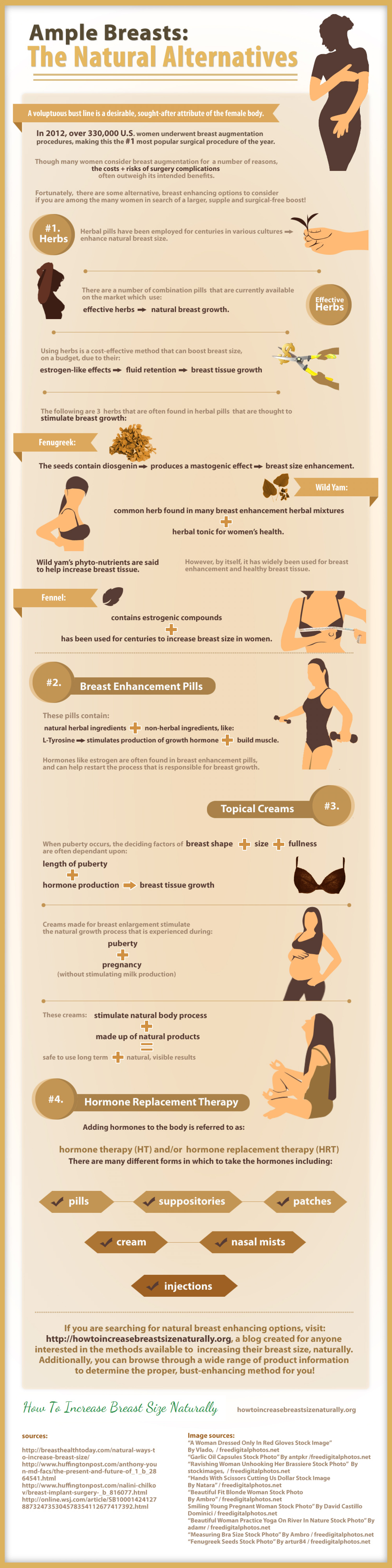 Ample Breasts:The Natural Alternatives Infographic