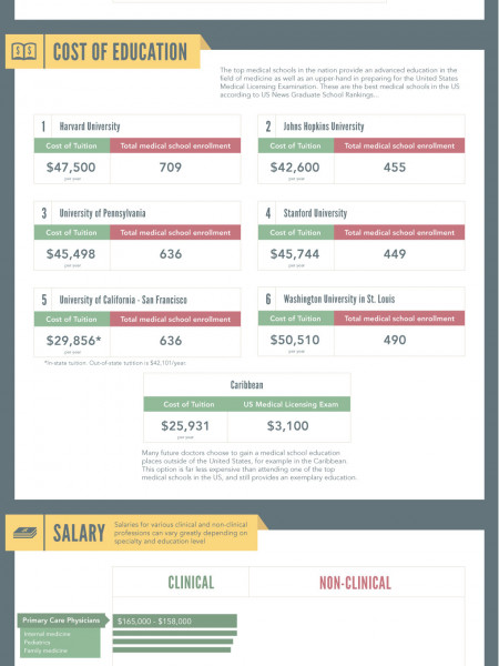 An Examination of the Medical Field Infographic