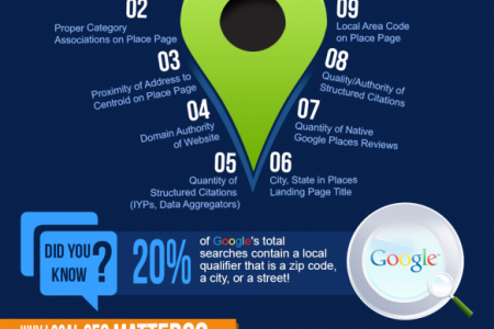 An Infographic on Local Search Ranking Factors Infographic
