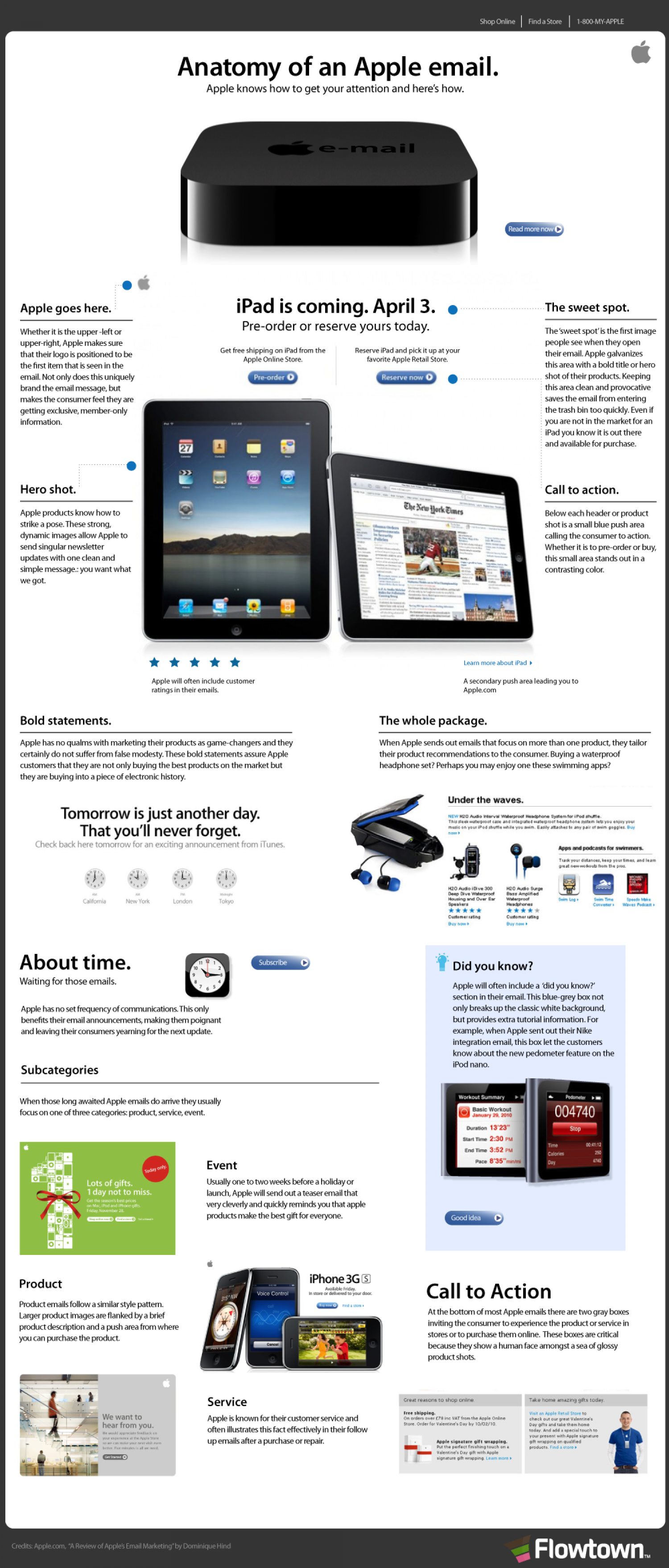 Anatomy of An Apple Email  Infographic