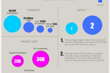 Angel Investment vs. Venture Capital Infographic