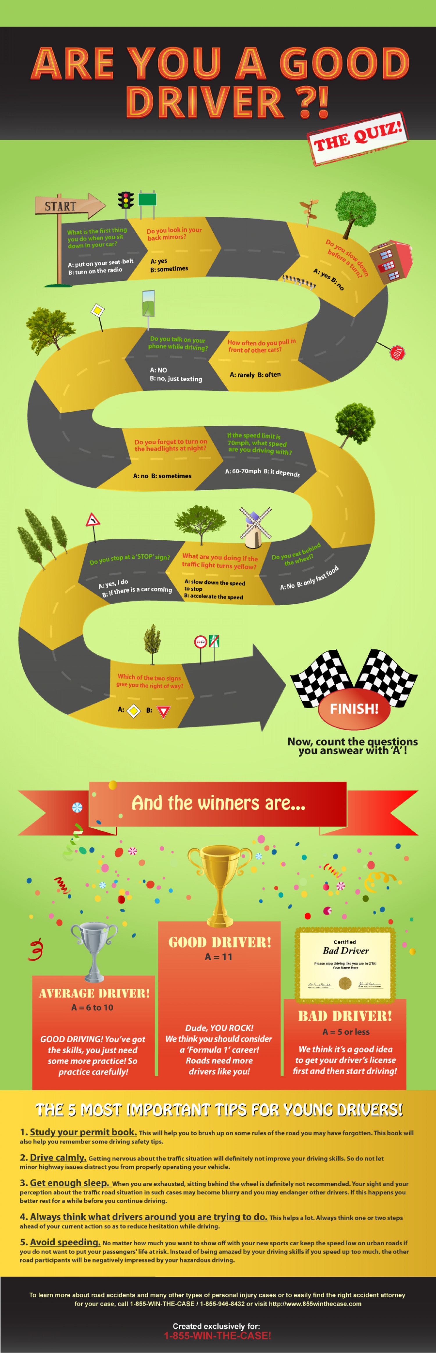 Are you a good driver? The quiz! Infographic