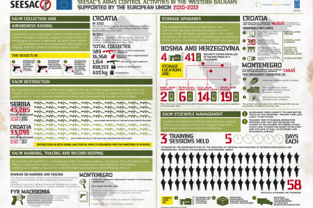 Arms control activities in the Western Balkans Infographic