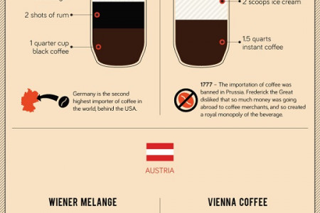 Around the World in 31 Coffees Infographic