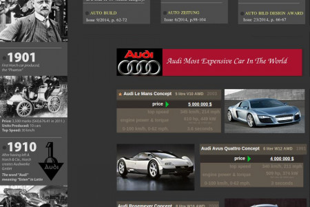 Audi The Gaint In Luxury Car Market Infographic