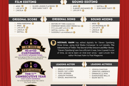Avid at the Oscars Infographic